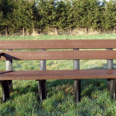 Orwell 1.8m Recycled Plastic Eco Bench With Arms