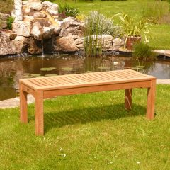 Agard 90cm Backless Teak Garden Bench 3 seater. Backless bench outdoor. Agard 120cm Backless Teak Garden Bench 3 seater. Backless bench outdoor. Agard 150cm Backless Teak Garden Bench