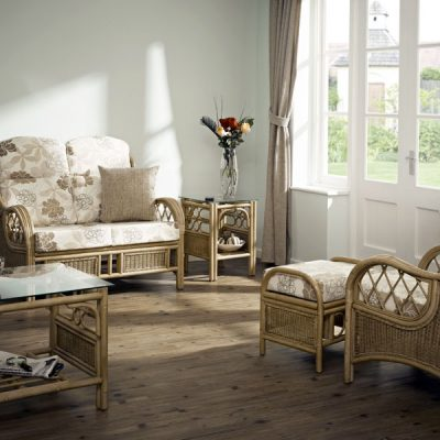 Faversham rattan and cane conservatory suite