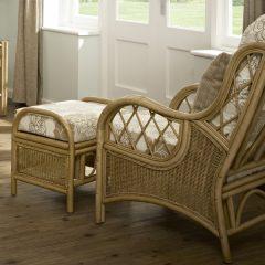 Faversham Cane Rattan Conservatory Armchair Set Plus Cushions
