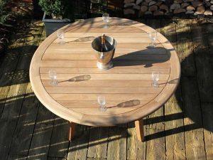 Gainsborough 150cm sustainable teak round garden table