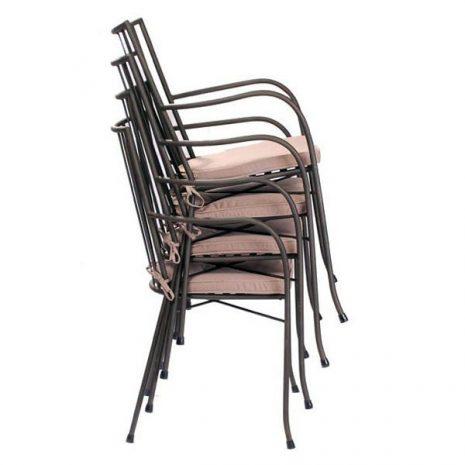 Grace Aluminium Armchair Stack