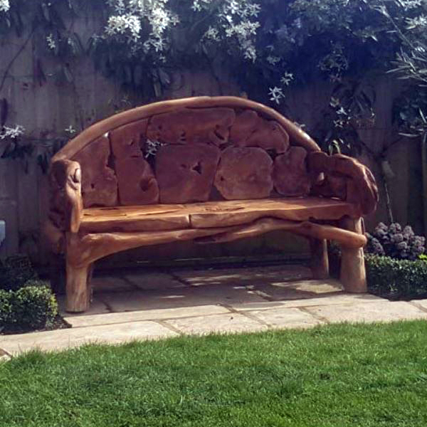 Kipling Reclaimed Teak Root Garden Bench