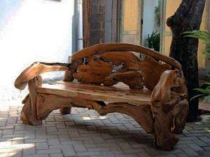 The Kipling Reclaimed Teak Root Bench