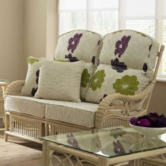 Ludlow Rattan Cane 2-Seater Conservatory Sofa