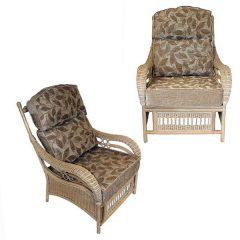 Ludlow Rattan Cane Conservatory Armchair Set Plus Cushions