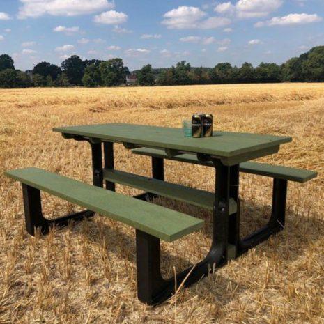 Orwell 180cm Eco Picnic Table Green