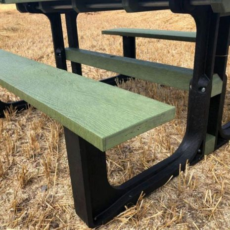 Orwell 180cm Eco Picnic Table Green Close Up