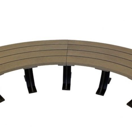 Orwell 2m Recycled Outdoor Plastic Curved Backless Bench