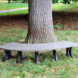 Orwell 2m Eco Curved Backless Bench