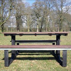 Orwell 122cm 4 Seater Recycled Outdoor Plastic Picnic Table. Orwell 238cm 8 Seater Recycled Outdoor Plastic Picnic Table