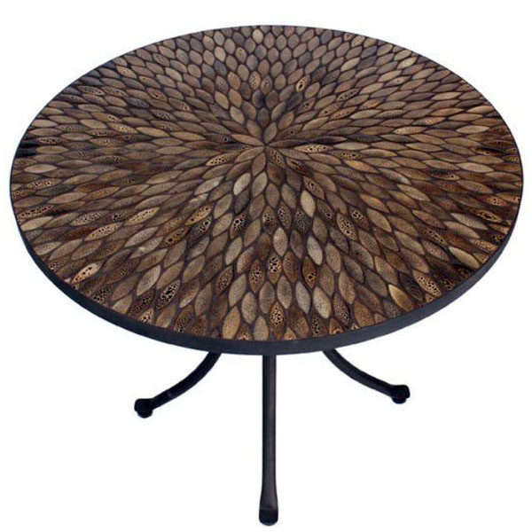 Pebbledash 70cm Round Bistro Table 2