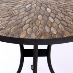 Pebbledash Tile Top 90cm Round Patio Bistro Table