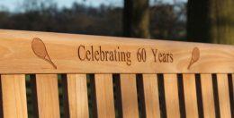 Rattan and Teak 60th Anniversary Gift Memorial Bench