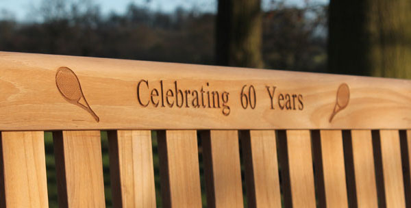 Rattan and Teak 60th Anniversary Gift Memorial Bench