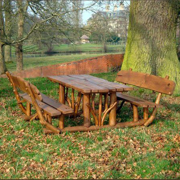 Hardy Reclaimed Oak Large 8 Seater Picnic Table Picnic