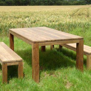 Sampson Table and Bench Set