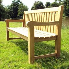 Shelley Medium Sustainable Teak Garden Bench 150cm