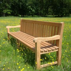 Shelley Extra Large Sustainable Teak Garden Bench 240cm