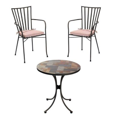 Slasto Tile Mosaic 2 Seater Patio Bistro Set