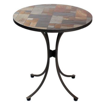 Slasto Tile Mosaic 70cm Round Patio Bistro Table. Slasto Tile Mosaic 90cm Round Patio Bistro Table