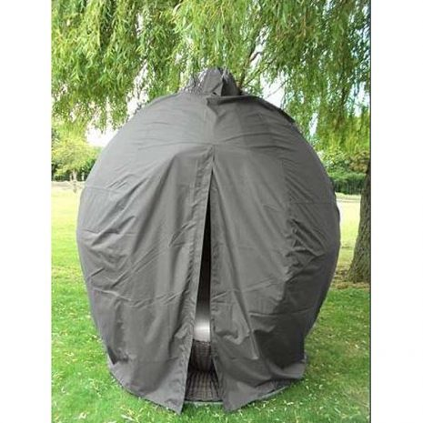 Apple Day Bed Weather Cover Grey - partially closed