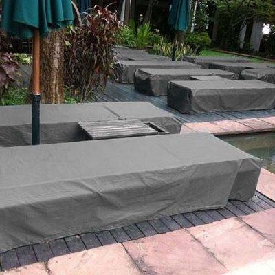 Grey Sun Lounger Cover - Heavy Duty Waterproof Seam Taped