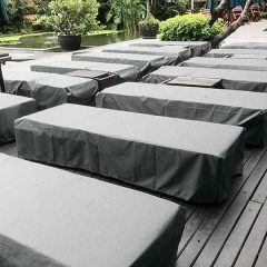 Grey Sun Lounger Cover - Heavy Duty Waterproof