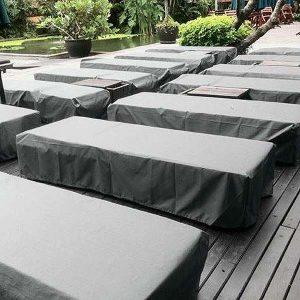 Grey Sun Lounger Cover - Heavy Duty Waterproof