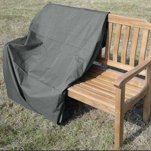 Heavy Duty Waterproof 120cm Bench Cover Grey - Toggle and pull cord