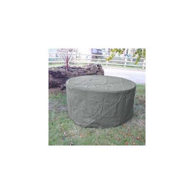 Heavy Duty Waterproof 150cm Round Table Cover Grey