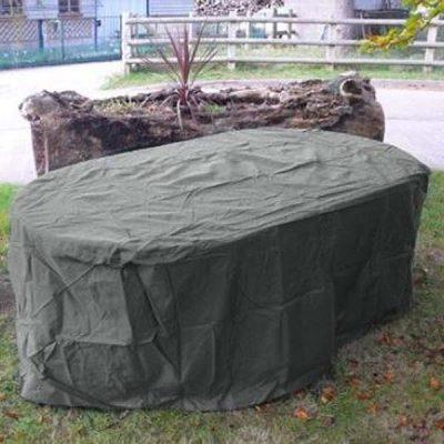 Heavy Duty Waterproof 200cm Rectangular Table Cover - Grey