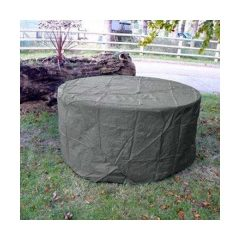 Heavy Duty Waterproof Round Table Cover Grey