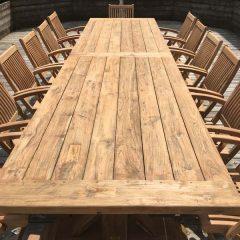Hockney Extra Large 4m Reclaimed Teak Dining Table - Close Up