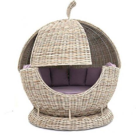 Poole Rattan Apple Day Bed - Sliding panel