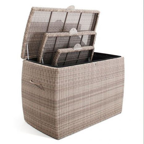 Sandbanks AquaMax Rattan Garden Storage Box Set 2