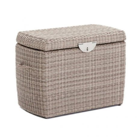 Small Outdoor Garden Rattan Storage Box Sandbanks AquaMax Rattan