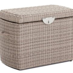 Sandbanks AquaMax Small Outdoor Garden Rattan Storage Box