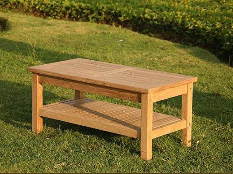 Remarkable Wordsworth Rectangular Teak Garden Coffee Table With Shelf Gmtry Best Dining Table And Chair Ideas Images Gmtryco