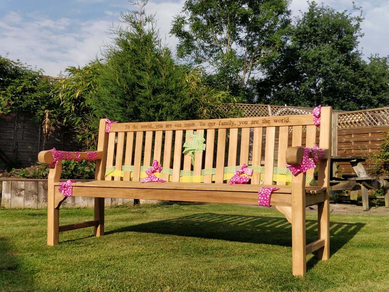Pleasant Wordsworth Solid Teak Garden Bench 5 Seater 180Cm Caraccident5 Cool Chair Designs And Ideas Caraccident5Info