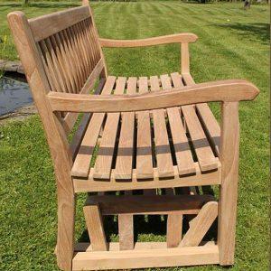 130cm Teak Garden Rocking Bench