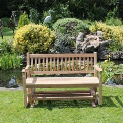 130cm Teak Garden Rocking Bench. 150cm Teak Garden Rocking Bench