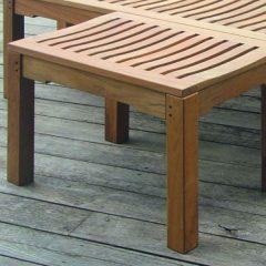 Agard 60cm Backless teak Garden Bench