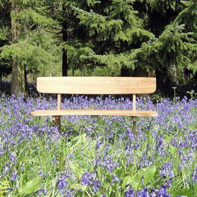 Byron 110cm Teak Couples Bench Seat. Love Seat.