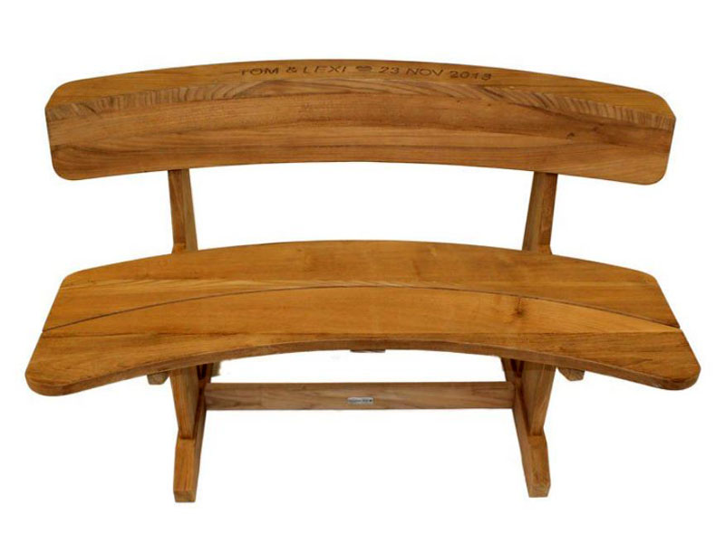 Pleasing Byron 110Cm Teak Couples Bench Seat Ncnpc Chair Design For Home Ncnpcorg