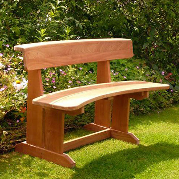 Byron 110cm Teak Couples Bench Seat. Love Seat.