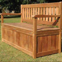 Dunbar 150cm Teak Garden Storage Bench
