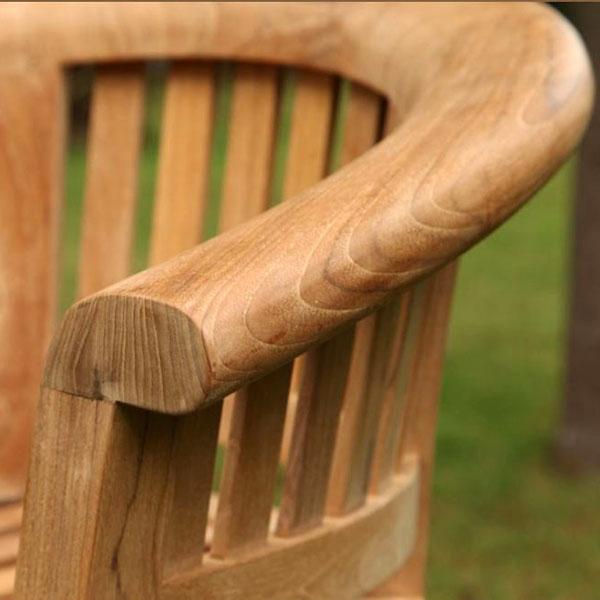 Half Moon Teak Curved Garden Companion Seat Love Seat