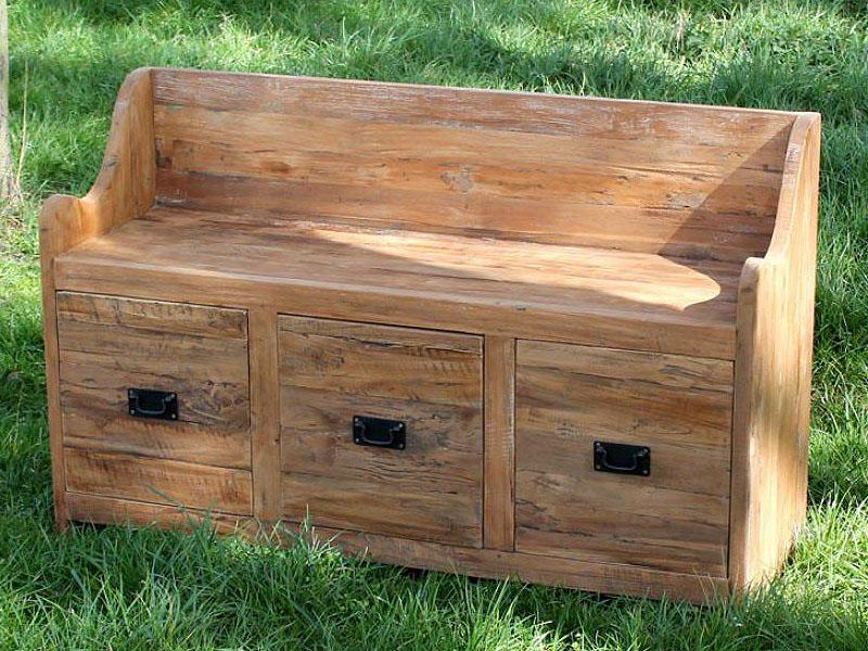 larkin reclaimed teak garden storage bench seat 160cm. Black Bedroom Furniture Sets. Home Design Ideas