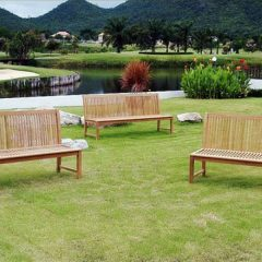 Pardlo 180cm armless teak garden bench